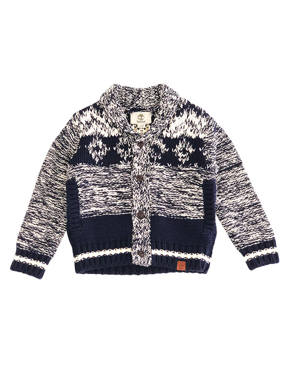 Cardigan London en tricot chiné - col châle