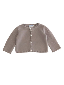 Cardigan coton London - point mousse