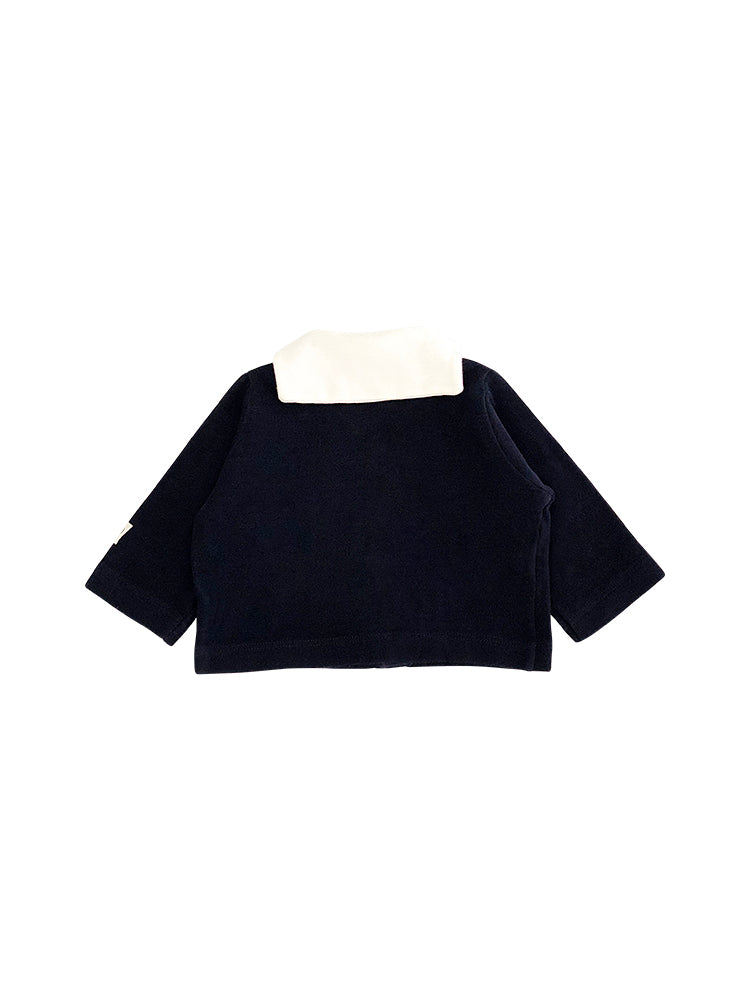 Cardigan en coton London - col Vareuse