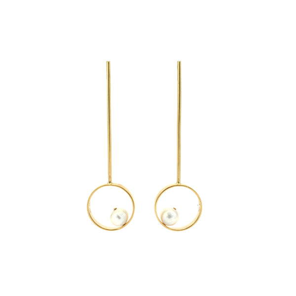 Orbita Largos Gold Earrings