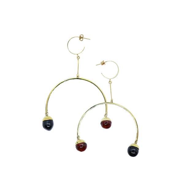 Flux Earrings gold