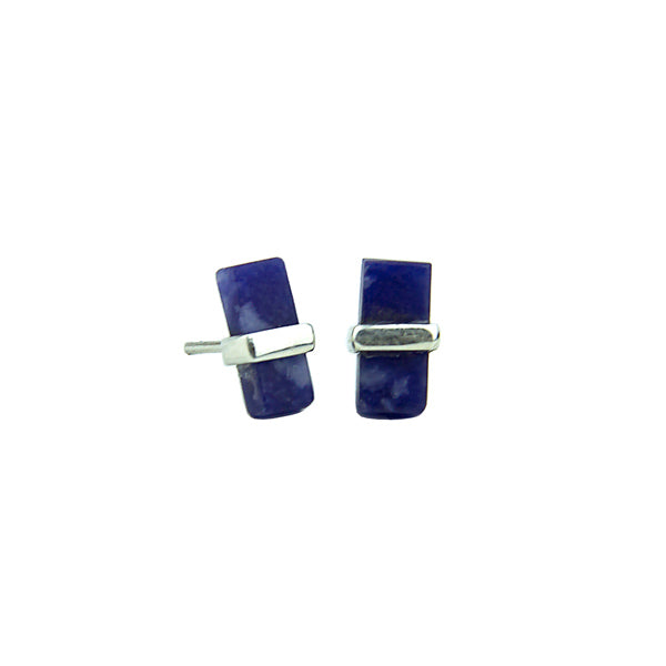 RECTANGULAR BELTED EARRINGS