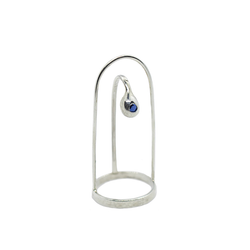 Terr Silver Ring with Sapphire (tipring)