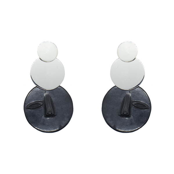 Tonal Silver Earrings