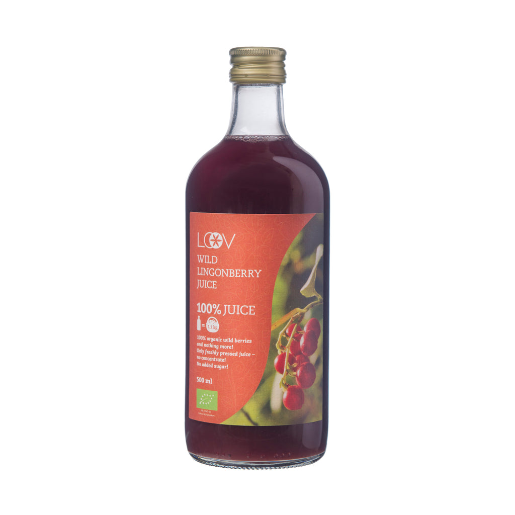 Organic Wild Lingonberry Juice, 500ml
