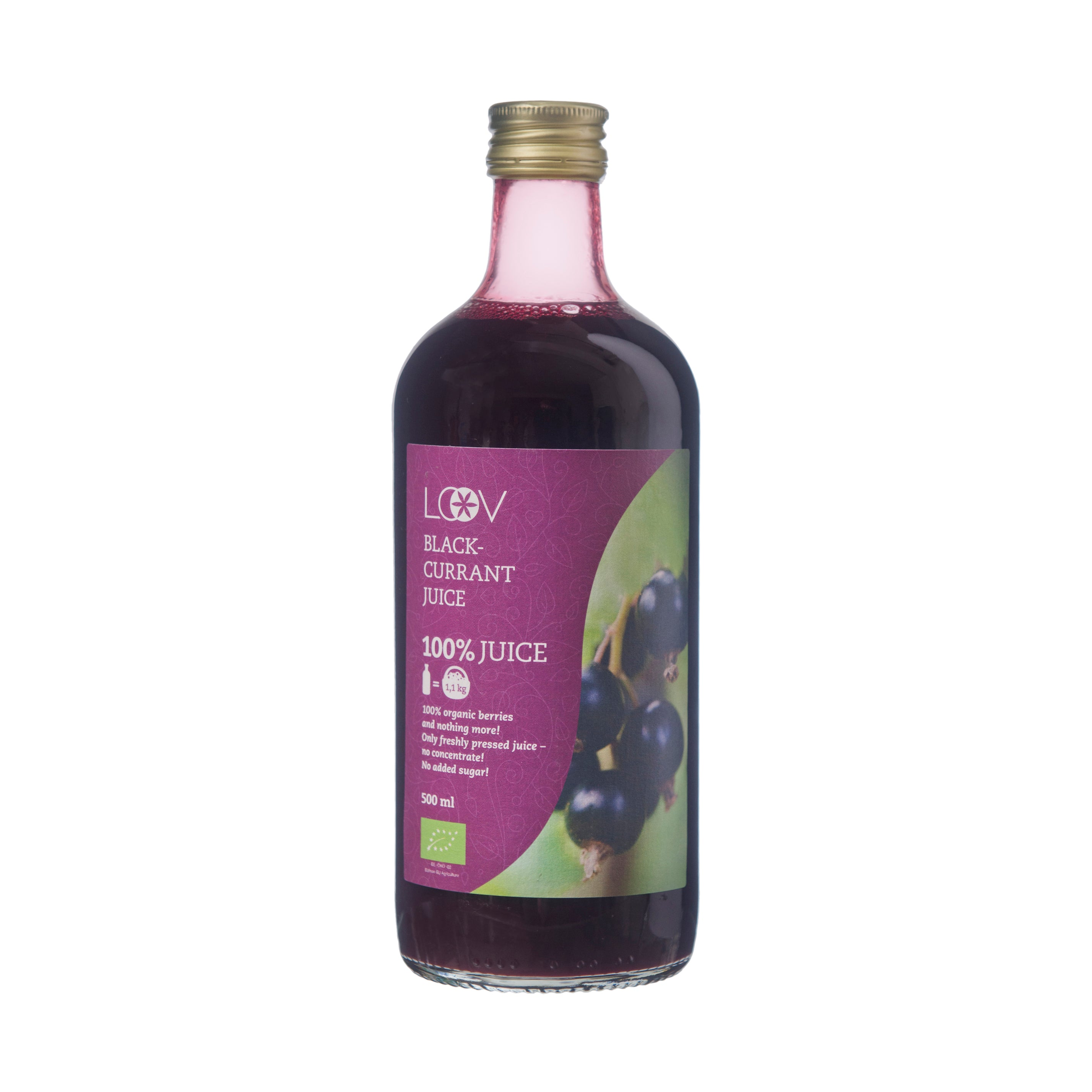 Organic Blackcurrant Juice, 500ml