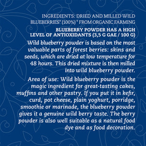 Organic Wild Blueberry Powder, 100g