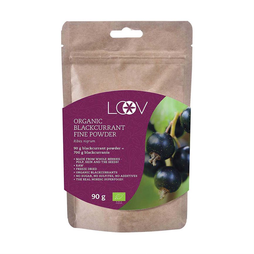 Organic Blackcurrant Freeze-dried Powder, 90g