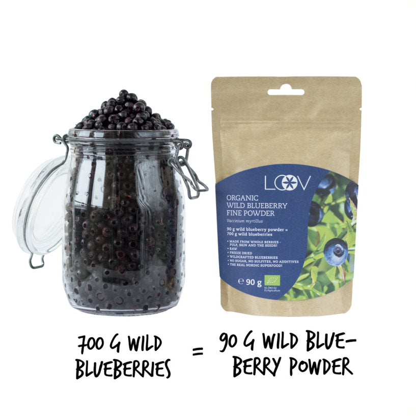 Organic Wild Blueberry Freeze-dried Powder, 90g