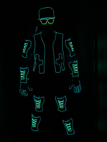 EL Wire Deluxe Light Suit