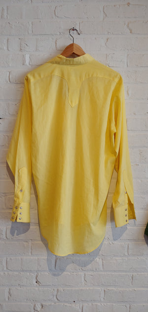 Rockmount Ranch Wear yellow button down L