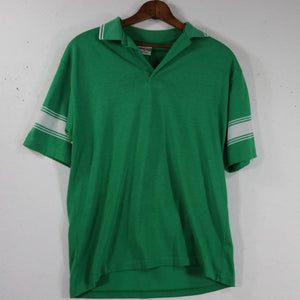 Green Striped Collared Shirt