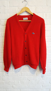 Lacoste red cardigan L
