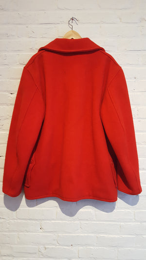 JC Higgins / Sears Red Wool Coat