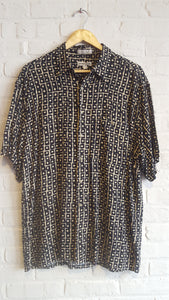 pierre cardin black and tan button down l