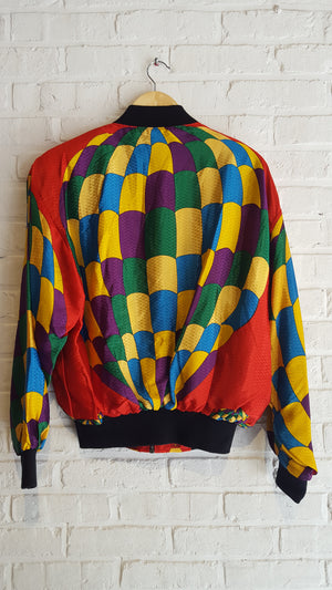Balloon II Silk Bomber (red & gold)