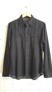 Chambray Dark Indigo Slub S