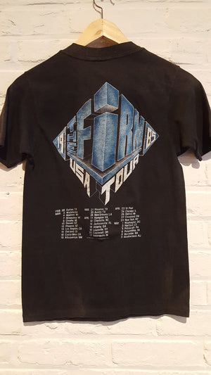 The Firm LED ZEPPELIN Jimmy Page Chris Slade Band Shirt '85 S VTG