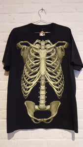 Skeleton Glow In The Dark Shirt Size L