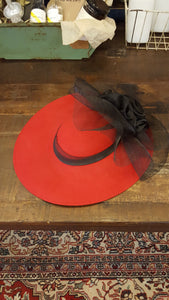 Sonni Red Derby Hat