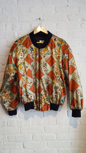 Polo player print bomber jacket S/M