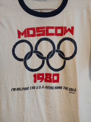 1980 Moscow ringer tee L