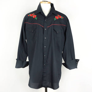 Roses Embroidered Shirt