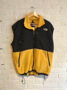 Yellow North Face Fleece Vest