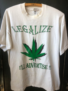Legalize I'll Advertise Pot Shirt XL
