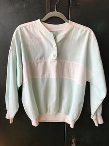 Turquoise White Pullover