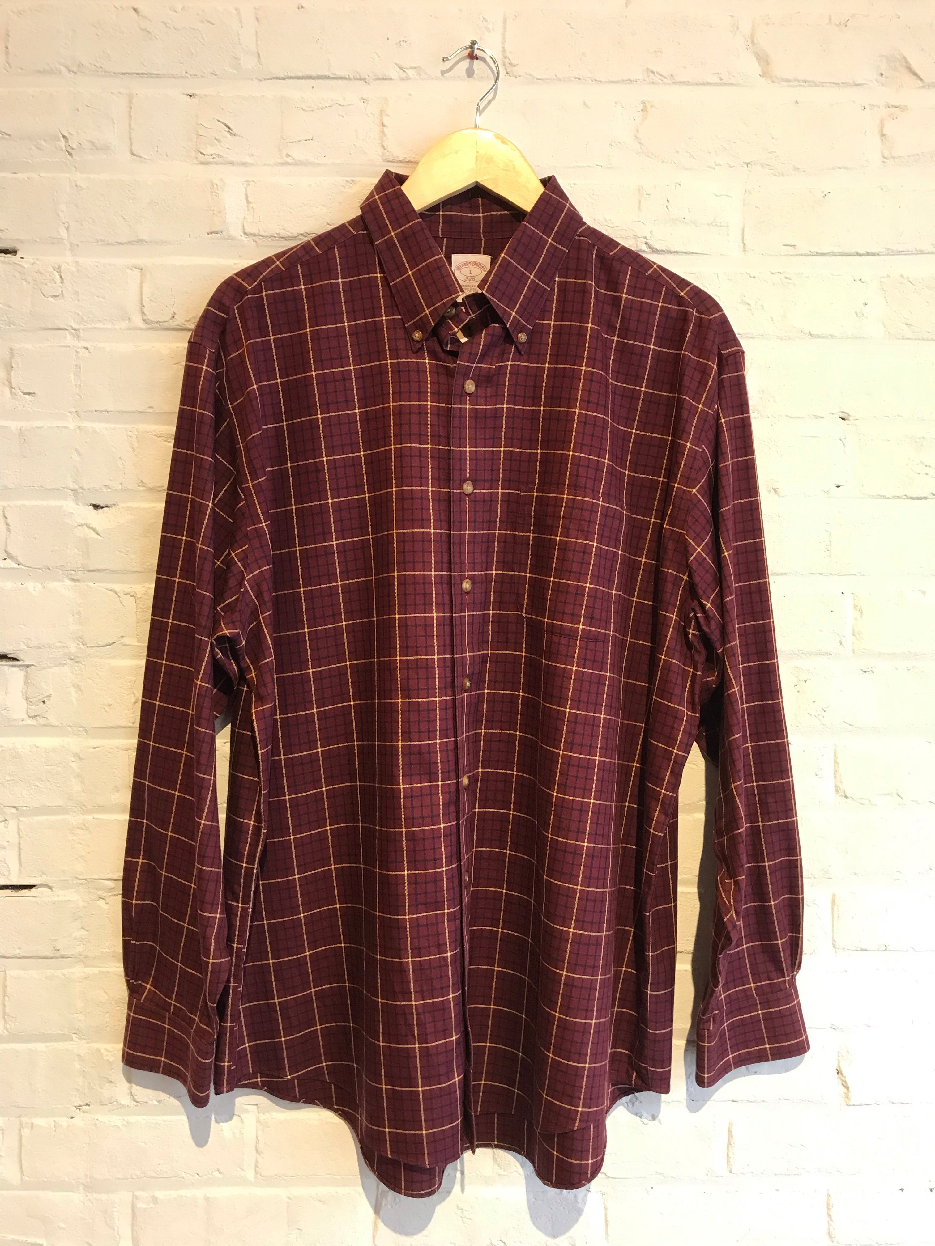 Brooks Brothers Plaid  Button Down