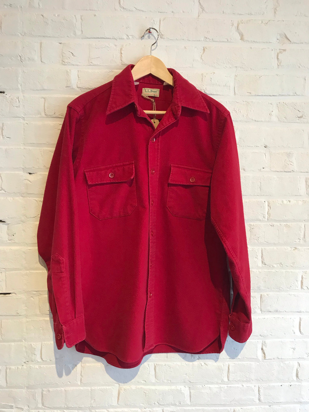 Red L.L. Bean Chamois Button Down