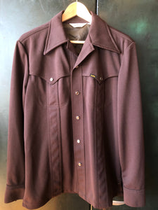 Lee 70s Pearl Snap Brown Size ML