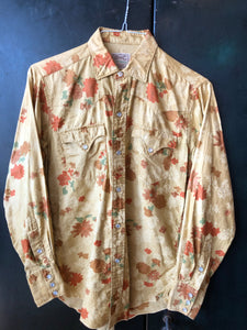 HBarC Floral Print Pearl Snap 60s Size S
