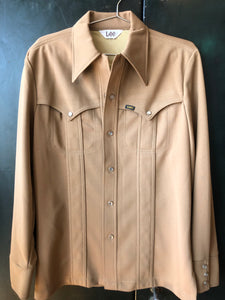 Lee 70s Pearl Snap Light Brown Size M
