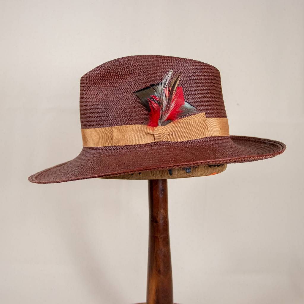 Chocolate Brown Panama Hat Small