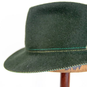 Borsalino Green Traveller's Hat 7 1/8