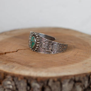 Turquoise Sterling Cuff Thunderbird