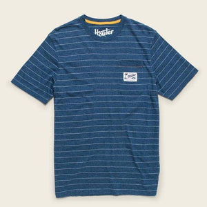 Chalk Stripe Heather Blue