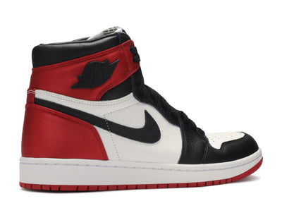 "Air Jordan 1 Retro High Satin ""Black Toe"" WMNS - Kicksly"