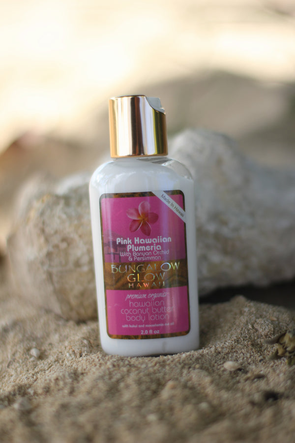 Pink Hawaiian Plumeria Coconut Butter Body Lotion 2oz