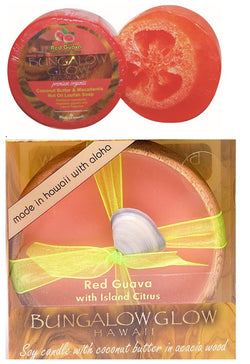 Red Guava Loofah & Candle Set