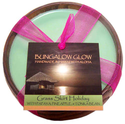 Grass Skirt Holiday Soy Poi Bowl Candle