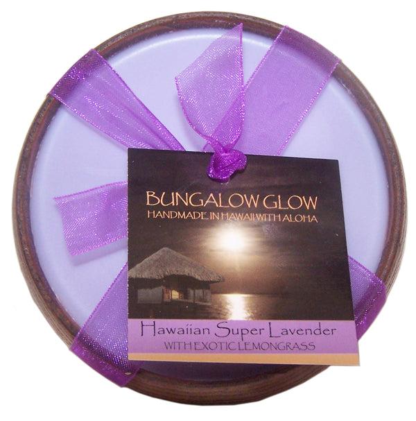Hawaiian Super Lavender Soy Poi Bowl Candle
