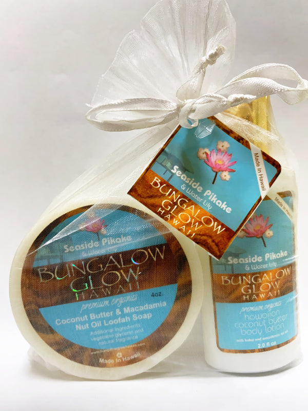 Seaside Pikake 2oz Lotion and Loofah Soap Gift Set