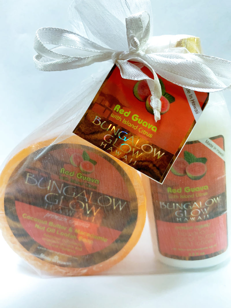 Red Guava 2oz Lotion and Loofah Soap Gift Set