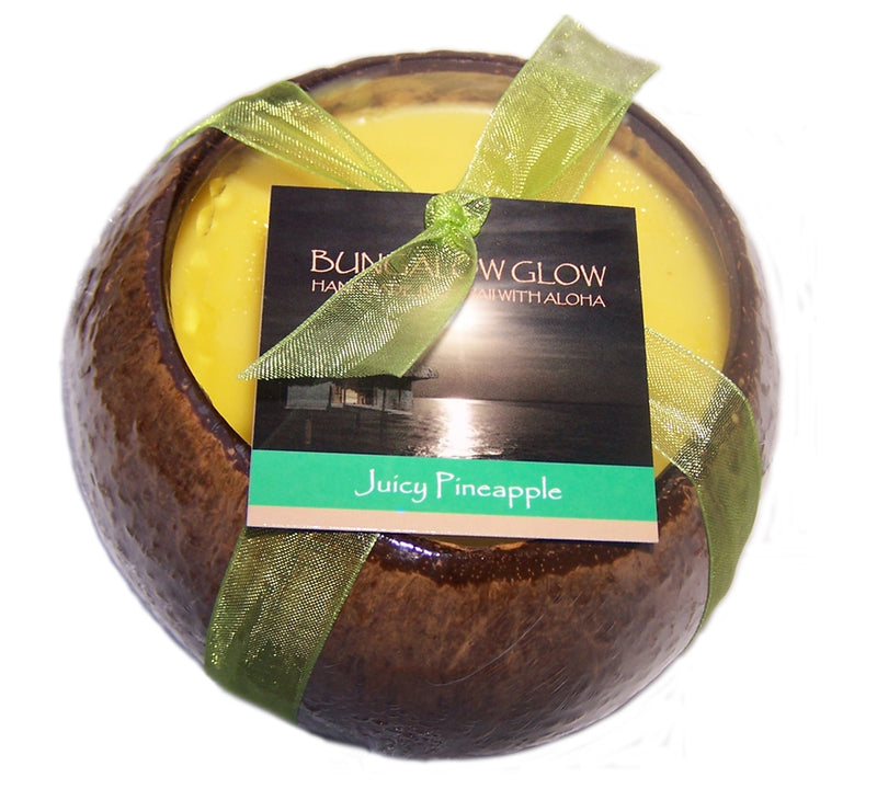 Juicy Pineapple Coconut Shell Soy Candle,12oz