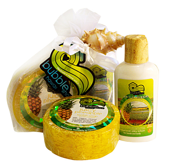 Juicy Pineapple Mini Lotion and Loofah Soap Gift Set
