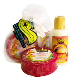 Plumeria Sunset Mini Lotion and Loofah Soap Gift Set