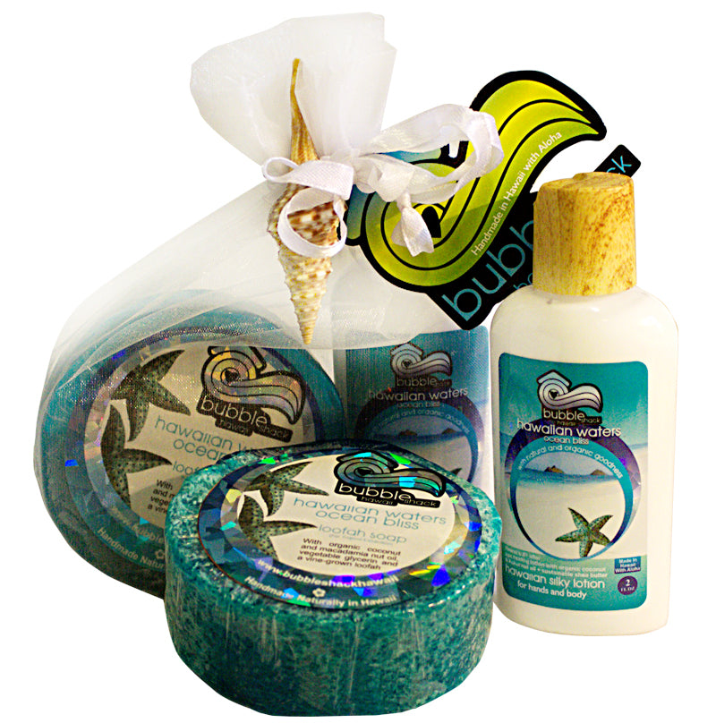 Hawaiian Waters Ocean Bliss Mini Lotion and Loofah Soap Gift Set